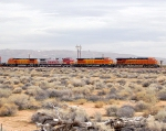 BNSF 7633, 854, 697, 532 